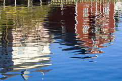Colorful reflections on water royalty free stock image