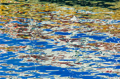 Colorful reflections on water, Norway, Lofoten Royalty Free Stock Images
