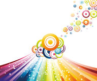 Colorful refreshing rainbow wave. Clip-art Royalty Free Stock Photo