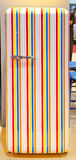 Colorful refrigerator rainbow colors. Retro colorful refrigerator rainbow colors Stock Photography