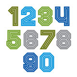 Colorful regular acute-angled digits, vector Stock Image