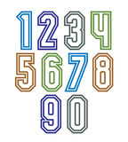 Colorful regular stripy numeration, modern vector poster numbers Royalty Free Stock Photography