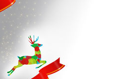 Colorful reindeer corporate background Royalty Free Stock Images