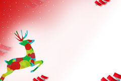 Colorful reindeer jumping, abstrack background Stock Images