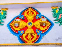 Colorful relief in Dharamsala Royalty Free Stock Photo