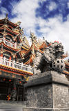 Colorful religious building in Chinese style Stock Image