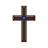 Colorful religious Christian cross crucifix design. Vector illustration.  vector illustration