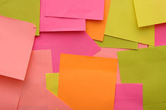 Colorful reminder notes Stock Photos