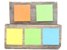 Colorful reminder notes Stock Photography