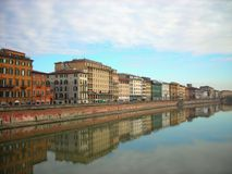 Colorful renaissance architecture of Pisa, Tuscany, Italy Stock Photography