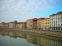 Colorful renaissance architecture of Pisa, Tuscany, Italy Royalty Free Stock Photo