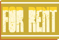 Colorful for rent badge isolated Stock Photography