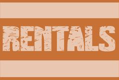 Colorful rentals badge isolated Royalty Free Stock Photography