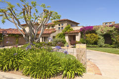 Colorful residence in Point Loma california. Royalty Free Stock Image