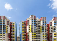 Colorful residential apartments Stock Photos