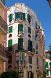 Colorful residential house in Majorca Royalty Free Stock Image