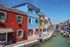 Colorful Residential house in Venice, Italy. Royalty Free Stock Photos