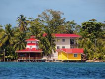 Colorful resort on tropical coast Royalty Free Stock Photos