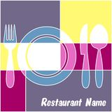 Colorful restaurant menu stock illustration