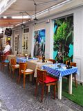 Madeira Island, Funchal, Old Town Restaurant Stock Photo