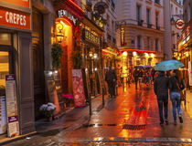 Colorful Restaurants Latin Quarter West Bank Paris France Royalty Free Stock Photos