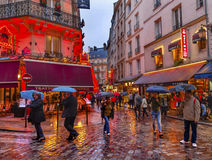 Colorful Restaurants Latin Quarter West Bank Paris France Stock Photo