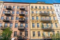 Colorful restored old residential construction in Berlin Royalty Free Stock Images