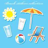 Colorful retail sunny beach stickers Royalty Free Stock Image