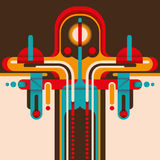 Colorful retro abstraction. Stock Photography