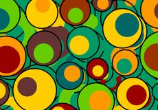 Colorful Retro Background. Retro colors and circles Royalty Free Stock Photography