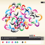 Colorful retro background. Vector. Abstract vector illustration depicting retro layout background Royalty Free Stock Photo