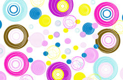 Colorful Retro Circles Background Royalty Free Stock Photography