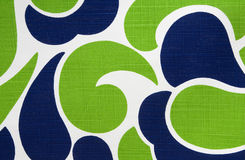 Colorful Retro Cotton Fabric Stock Image