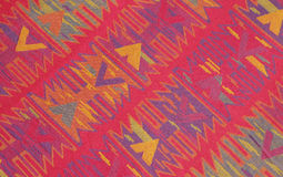 Colorful retro cotton fabric closeup Royalty Free Stock Photo