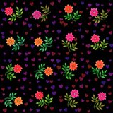 Colorful retro decorative floral background Royalty Free Stock Photos
