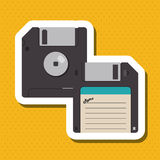 Colorful retro diskette design, vector illustration. Retro concept with icon design, vector illustration 10 eps graphic Stock Images