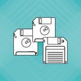 Colorful retro diskette design, vector illustration Stock Images