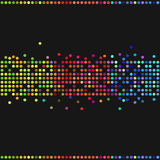 Colorful retro dots Stock Images