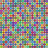 Colorful Retro Dots. Seamless pattern in 1960s inspired style Stock Photo