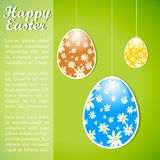 Colorful retro easter design template with eggs. Royalty Free Stock Image