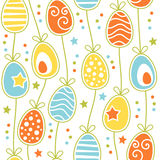 Colorful Retro Easter Eggs Seamless Tile Stock Photography