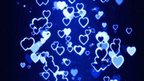 Colorful Retro Hearts Flowing random Stock Image