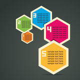 Colorful Infographics. Colorful retro hexagon infographics stock Royalty Free Stock Photo