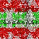 Colorful retro hipsters triangle pattern background royalty free illustration