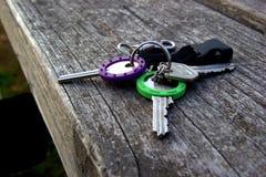 Colorful retro keys Royalty Free Stock Photos