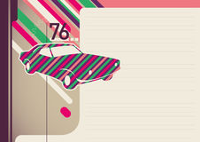 Colorful retro layout. Stock Photography