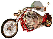 Colorful retro motorbike Royalty Free Stock Image