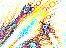 Colorful Retro Pattern Fading royalty free stock image