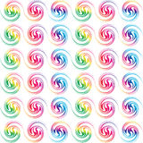 Colorful retro seamless circles Royalty Free Stock Photos