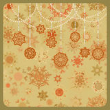 Colorful retro snowflake pattern. EPS 8 Royalty Free Stock Photography